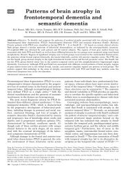 Patterns of brain atrophy in frontotemporal dementia - UCSF ...