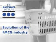 Evolution of the FMCG industry - The Shopsumer Institute