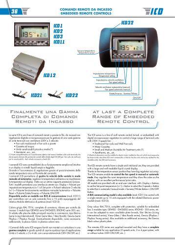 K20002 v01 comandi e controlli ed accessor con utnc rhoss for Termostato baxi istruzioni