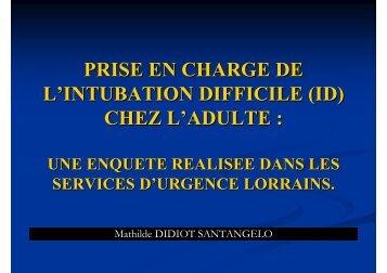 intubation difficile - COLMU