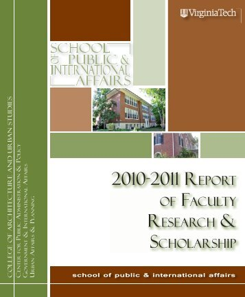 2010-2011 REPORT - School of Public and International Affairs