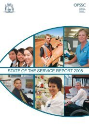 STATE OF THE SERVICE REpORT 2008 - Public Sector Commission