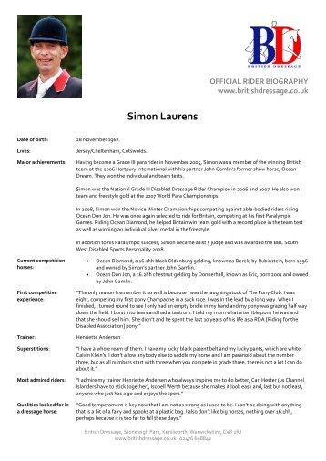 Simon Laurens - Parasport