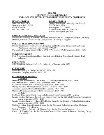 Superior Resume   George Washington University Law School With George Washington Resume
