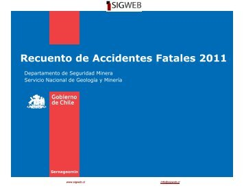 Recuento de Accidentes Fatales 2011 - Sigweb