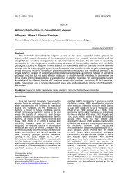Antimicrobial peptides in Caenorhabdites elegans - Invertebrate ...