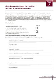 Questionnaire to assess the need for and cost of an affordable home
