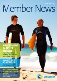 investment market UPDate - VicSuper Member News Autumn 2012