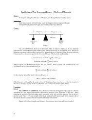 Equlibrium of Non-Concurrent Forces; (The Law Of ... - Physics