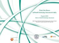 Primo Libro Bianco sull'Health Technology Assessment in ... - Ijph.it