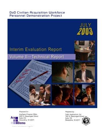 Interim Report Volume 2 - AcqDemo