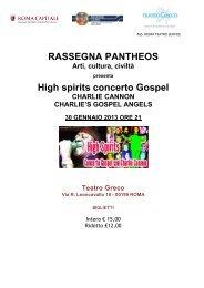 High spirits concerto Gospel cartella stampa.pdf - Informazione.it