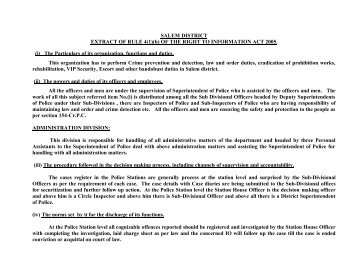 SALEM DISTRICT EXTRACT OF RULE 4(1)(b) OF THE RIGHT TO ...