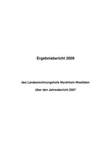 2009 - Landesrechnungshof des Landes Nordrhein-Westfalen (LRH ...