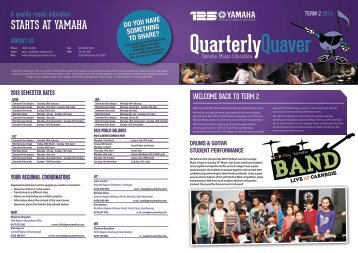 Quarterly Newsletter Term 2 - 2013 - Yamaha Music School