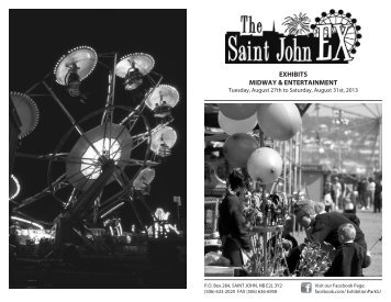 2013 Saint John Ex Catalogue - Exhibition Park
