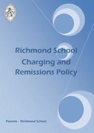 Charging and Remissions Policy - Richmond School