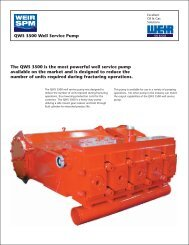 QWS 3500 PUMP FLYER - FRONT - Weir Oil & Gas Division