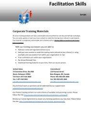 Facilitation Skills - Corporate Training Materials