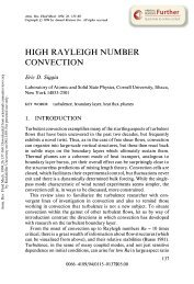 High Rayleigh Number Convection
