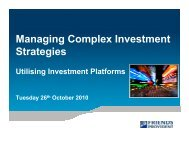 Managing Complex Investment Strategies - Engaged Investor