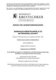 endgültige angebotsbedingungen bankhaus krentschker & co ...