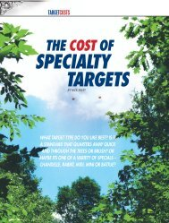the cost of specialty targets - Clay Shooting USA