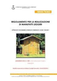 Regolamento per la realizzazione di manufatti leggeri - Comune di ...