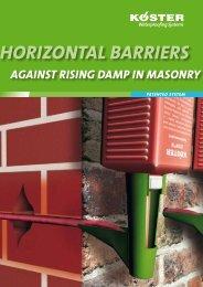 Horizonal Barriers Against Rising Damp in Masonry - KOSTER ...