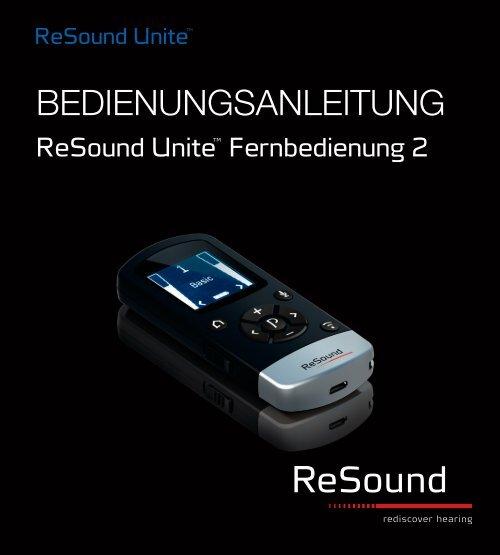 ReSound Unite Remote Control 2 - Bedienungsanleitung