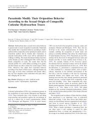 Parasitoids Modify Their Oviposition Behavior According to the ...