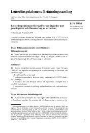 LIFS 2010:1 Lotteriinspektionens föreskrifter om åtgärder mot ...