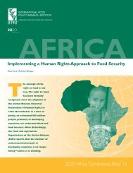 Implementing a human rights approach to food security