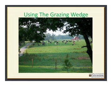 Using The Grazing Wedge