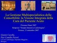 Casella G., Pavesi P.C., La Gestione Multispecialistica ... - Anmco