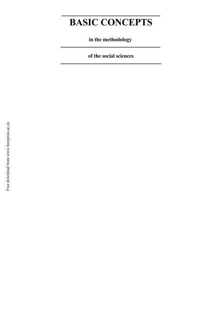 Download - HSRC Press
