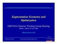 Segmentation Geometry and Optimization