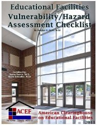 Educational Facilities Vulnerability/Hazard Assessment Checklist