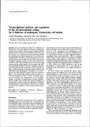 fimbriae of pathogenic Escherichia coli strains - OPUS
