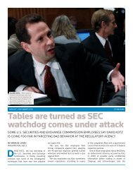 Tables are turned as SEC watchdog comes ... - Thomson Reuters