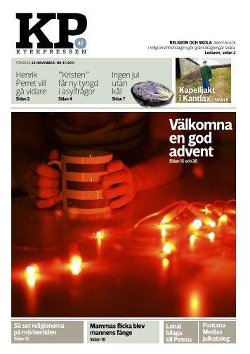 Kyrkpressen 47/2011 (PDF: 4.8MB)