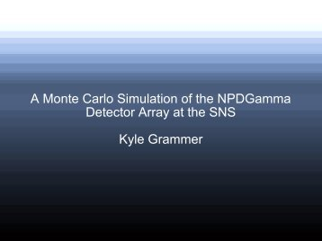 A Monte Carlo Simulation of the NPDGamma Detector Array at the ...
