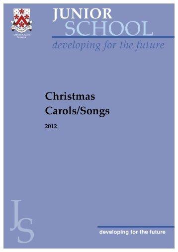 Christmas Carols/Songs - Dulwich College Shanghai