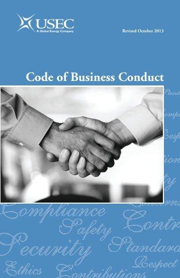 USEC Inc. Code of Business Conduct - usec.com