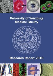 University of Würzburg Medical Faculty Research Report 2010
