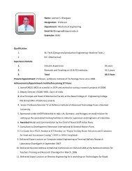 Name: Laxman S. Bhargava Designation: Professor ... - SIT
