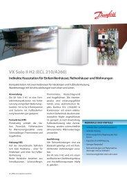 VX Solo II H2 (ECL 210/A260) Indirekte Hausstation für ... - Danfoss