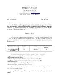 Operatore socio sanitario B evoluto 1 - Agenzia del Lavoro