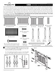 Crib assembly & operation manual