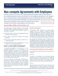 Non-compete Agreements with Employees - Vinson & Elkins LLP